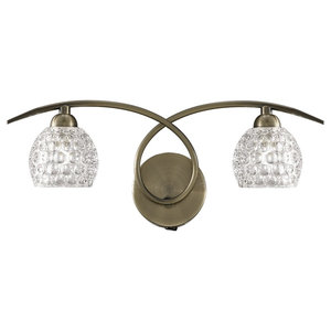 Springa Double Wall Light, Bronze