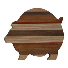 Exotic Woods Pig Shaped Wooden Cutting Board