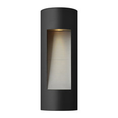 Hinkley Lighting Luna Contemporary Outdoor Wall Sconce, Small, Satin Black