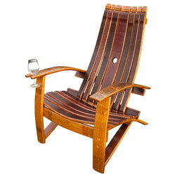 Farmhouse Adirondack Chairs by Wine Barrel Products