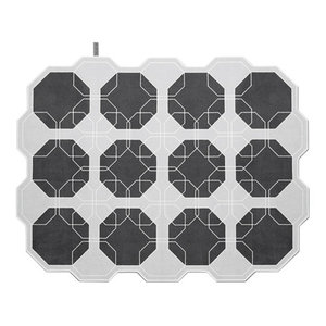 Octagon Area Rug, Grey, 180x240 cm