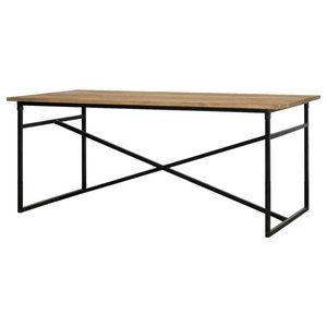 Webster Metal and Wood Dining Table