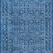 "Traditional Medieval Tracery Area Rug, Dark Blue, 9'10""x14'"