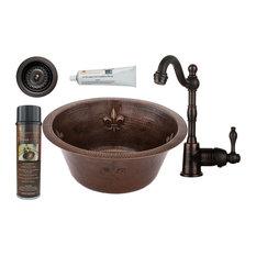 """16"""" Round Copper Bar/Prep Sink"""