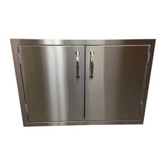 "Best of Backyard All Stainless Steel 30"" Double Access BBQ Door With Liner"