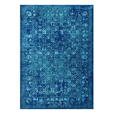 Trellised Garden Area Rugs, Blue, 9'x12'