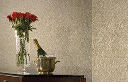 Beadazzled Geode wallpaper in Metallic Taupe