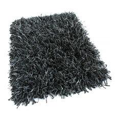 10'x14' Oval, Black Marble Bling Shag Custom Rug, 68.2 oz Carpet