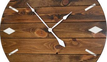 """Large Modern Wall Clock, Dark Walnut, 26"""""""
