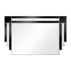 Majestic Original Handcrafted Art Deco Wall Mirror, 69x110 cm