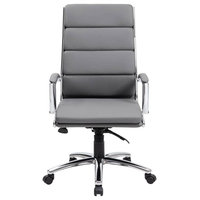 Executive Chair with Metal Chrome Finish
