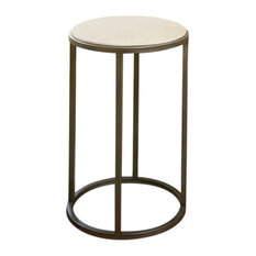 End Table in Natural Travertine Finish