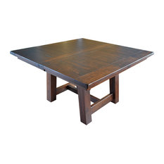 Rustic Hawthorne Farm House Square Table Barn Floor Plank Top Rustic Cherry 1