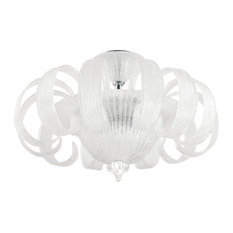 Ideal Lux Tintoretto Clear Grit Glass Semi-Flush Fitting