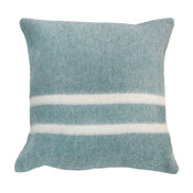 """Heritage Stripe Pillow, 17""""x17"""", Canyon Shadow With Natural Stripe"""