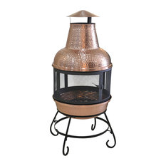 Deeco Consumer Products   Cape Copper Chiminea   Chimineas