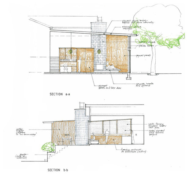 Contemporary Interior Elevation by Megan Edwards Architects