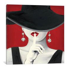 """Haute Chapeau Rouge I Gallery"" by Marco Fabiano, 12x12x1.5"""