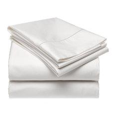 Queen White Raphael Rozen Designs 400 Thread Count 100% Cotton Sheet Set