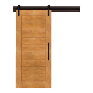 "Real Solid Hardwood Sliding Barn Door / Tropical Oak, 48""x81"""
