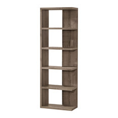 Coaster Home Furnishings - Coaster Bookcase, Weathered Gray - Bookcases