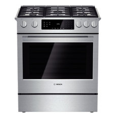 """Bosch Home Appliances - Bosch 30"""" Gas Slide-in Range, Stainless Steel - Gas Ranges and Electric Ranges"""