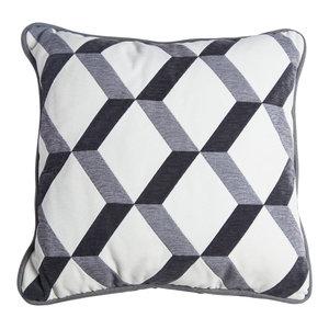 Square Victor Cushion, Grey