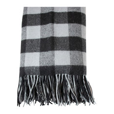 Buffalo Plaid Throw, Charcoal/Black