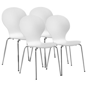 VidaXL 4 Stackable Butterfly Dining Chairs, White