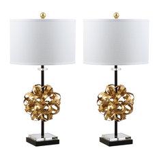 Studio Seven Lionel Table Lamp Set of 2, Black/Gold