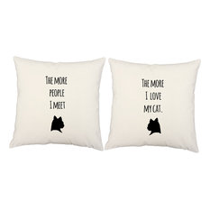 """RoomCraft Love My Pet Throw Pillow Cover/Cushion Set, White Indoor/Outdoor, 18""""x"""