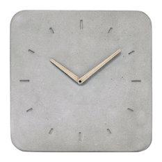 Classic Concrete Clock, Grey, Large
