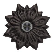 Solid Brass Radiance Doorbell, Black