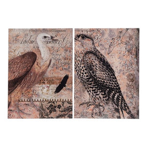 Exotic Birds Prints, Set of 2