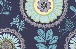 Amy Butler Lacework Wallpaper, Navy Blue