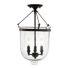 "Charlotte 14.5"" Metal Led Semi-Flush Mount, Oil Rubbed Bronze"