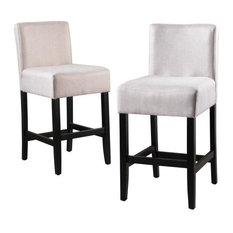 GDFStudio - Prim Dark Backed Counter Stools, Set of 2, Wheat - Bar Stools and Counter Stools
