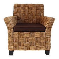 Incroyable Design Mix Furniture   Banana Leaf Arm Chair With Brown Cushions    Armchairs And Accent Chairs