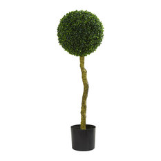 Natural Home Decorative Indoor/Outdoor Boxwood Artificial Topiary Tree, 3.5'