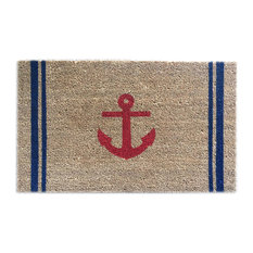 """Hand Painted """"Anchor"""" Welcome Mat, Red Anchor"""