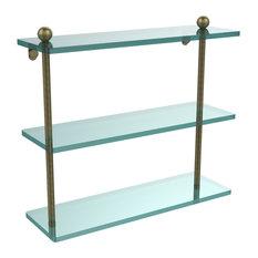 """16"""" Triple Tiered Glass Shelf"""