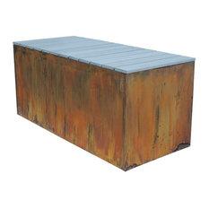 "Nice Planter Bench, Corten, 20""x46""x20"""