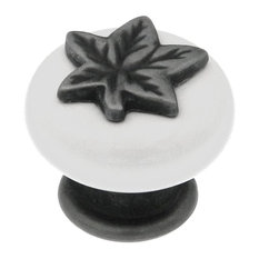 Hickory Hardware Country Satin Pewter Antique 1 1/4 In. Knob