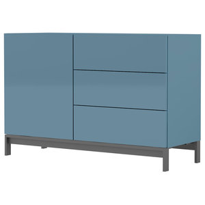 Metis Contemporary 3-Drawer Sideboard, Turquoise