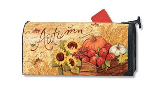 Autumn Cart Magnetic Mailbox Cover