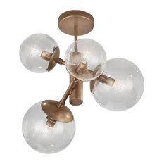 Clifton Lighting - Metal Lux Global Bronze 4-Light Chandelier - Chandeliers