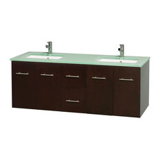 Eco-friendly Modern Double Sink Bathroom Vanity