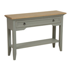 Esquisse Console Table, Aged Light Grey