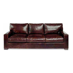 Leather Furniture Expo Napa Sofa Brompton Cocoa 96 Inch Sofas