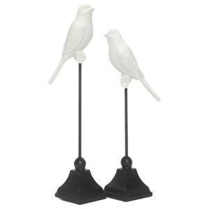 White Bird Decorations, 2-Piece Set
